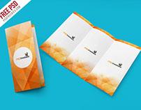 Free PSD : Tri Fold Brochure Mockup PSD Template