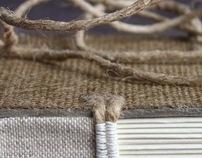 Burlap books.