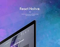 React Native Landing Page