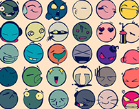 Faces of a million Smileys
