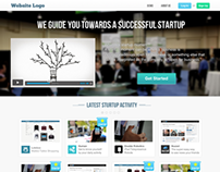 Website template for startup business