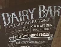 Traderspoint Creamery Dairy Bar Chalk Art