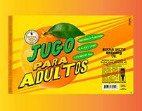 Jugo Para Adultos - 16oz Label