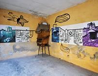 """""""la città si tuffa nelle case""""-sitespecific exhibition"""