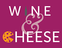 Wine and Cheese Event Poster