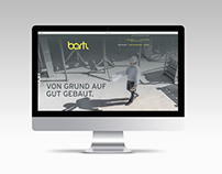 Website Bartl Baumanagement