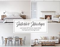 Farmhouse Style Interior Mockup + Freebie