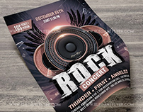 Rock Concert – Free Flyer PSD Template