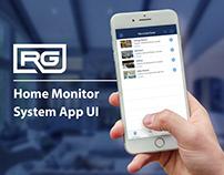 Home Surveillance App UI