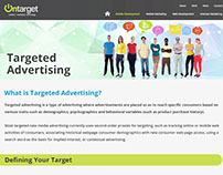 Targeted Advertising Landing Page Design