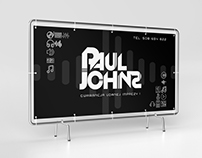 Banner design for DJ's table for Paul Johns