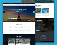 TNT - Tour And Travel Template PSD and HTML5 Freebie