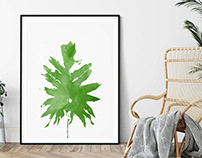 Tropical Plant, Printable Wall Art