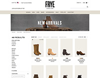 FRYE Boots Product Listing Page, iPad View Refactor