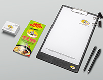 Business card, Tri-fold flyer and letter head