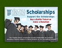 Virginia Library Association Scholarship poster mock up