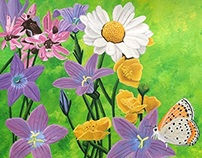 BORBOLETA III WILD FLOWERS