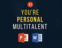 Multitalent personal portfolio powerpoint template