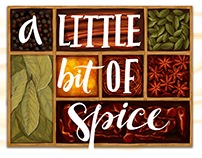 'A Little Bit of Spice' - Illustrated Logo