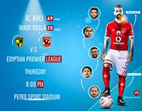 Ahli vs Wady degla with Statistic