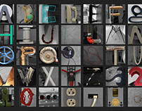Found Letterforms Alphabet