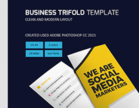 Social Media Marketing Trifold Template