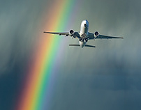 Aviation Photography – Rainbow
