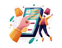Storefront E-commerce Illustration