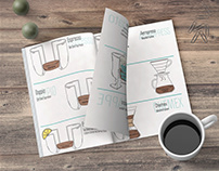 COFFEE RECIPE CATALOG DESIGN AND DRAWING