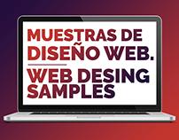 Muestras de diseño web