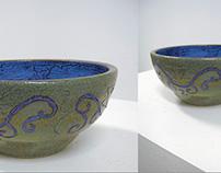 """Rivers and Tides"" Ceramic Bowl"