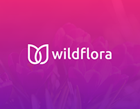 WildFlora Logo ( W + Flower )