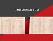 Price List.