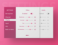 Daily ui : 07 settings screen