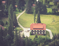 Chalets as miniatures