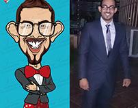 Hussein.Caricature