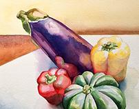 Leaning Eggplant