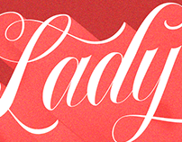 Lettering for poster design: Lady sings the blues