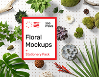 Floral PSD Mockups & Stationery Pack