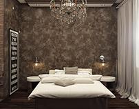 Спальня шоколадного цвета