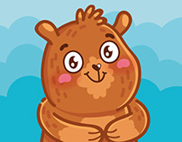 Andy: cute bear stickers for iMessage