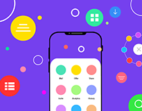 mobile app menu interaction collection