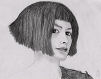 Amélie Poulain (proyecto para clase de dibujo)
