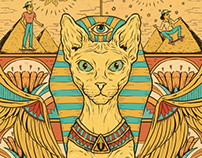 Shape Old School Egypt Cat - Urgh