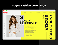 Vogue Fashion Page Cover