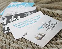 Lettering postcards
