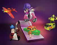 Campaña Promocional Rey Rocket Paper Toys