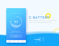 C battery-The lightweight battery app