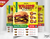 Restaurant Flyer Design PSD