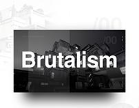 Brutalism website concept